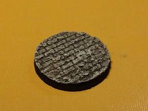 25mm brick textured base from Ultimate Parametric Base Generator
