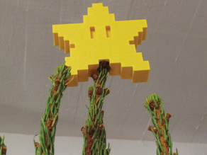 Pixel tree topper star
