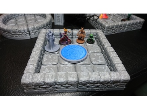 D&D scenery: Water pool for Tomb of Annihilation - Obo'laka's shrine. OpenLock compatible