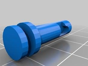 Water cooler/beer tap valve cusp stem