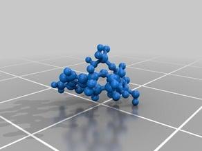 Molecular Model - ATP (Adenine TriPhosphate) - atomic scale model