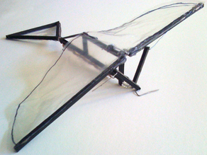 Ornithopter Frame (Rubber Band Powered)