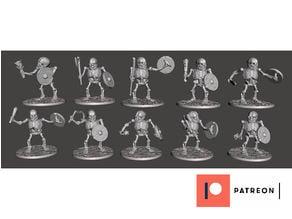 Orc Skeleton Warrior Marauders x 10 Poses / Squad / Unit