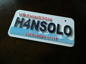 Customizable American License Plate