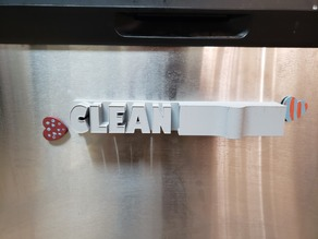 Dirty/Clean Magnetic Dishwasher sign