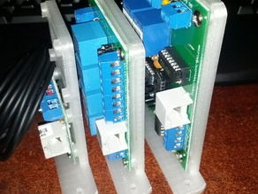CNC4PC vertical mounts for the C3, C6, and quad relay boards.