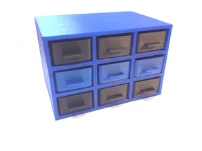 Nine Drawer Storage Cabinet