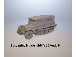 Easy print & glue - SdKfz 10 Ausf. B closed
