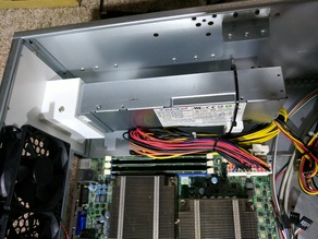1U Flex Power Supply to ATX Case