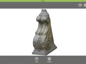 Sense Scan: test wooden carved object