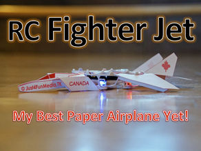 RC Paper F14 Fighter Jet