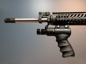 AR picatinny foregrip w/ tactical light