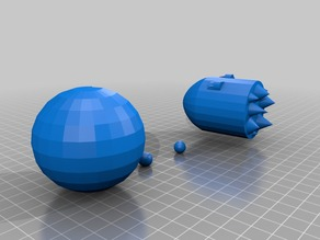 Pac-Man+Ghost 2.0 (3d Printable)