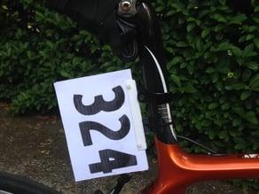 Triathlon Bike Number Mount