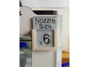 Nozzle Size Indicator