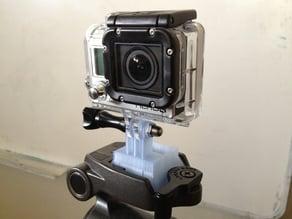 A GoPro tripod mount for Velbon tripods