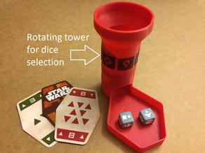 Sabacc Dice Tower for Han Solo Card Game