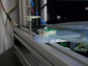 Kossel Mini Borosilicate Glass Print Surface Top Clip