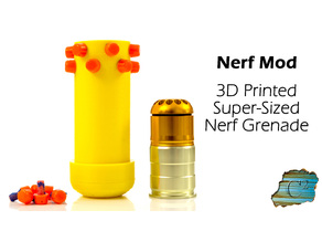 Nerf 12-Dart Super Grenade (Uses CO2/GreenGas)