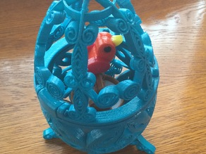 Bird in Cage ( Quilling style )