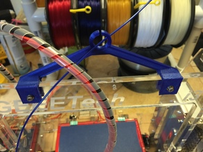 Filament Guide for Tower Center - Prusa i3 8mm Acrylic