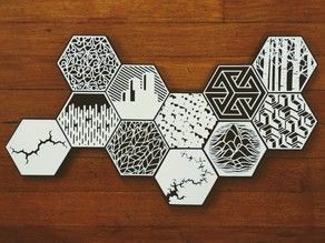 100hex mosaic assembly