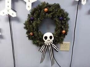 Haunted Mansion Wreath Skull