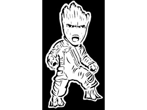 Baby Groot stencil