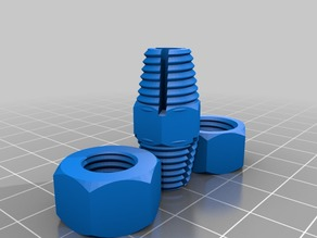 My Customized Parametric tapered thread coupling
