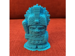 Voxelized Aztec Chief