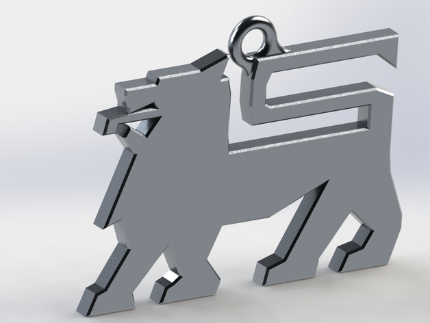 Food Lion logo keychain by StoneColdLoki - Thingiverse