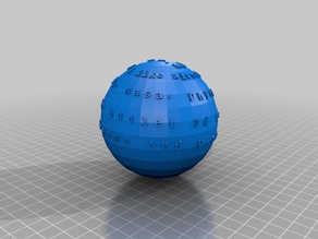 ball with words on it