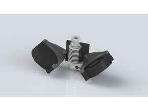 Geeetech Delta E3D v6 Extruder and print cooling