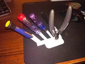 Desk organizer to screwdriver cutters and tweezers