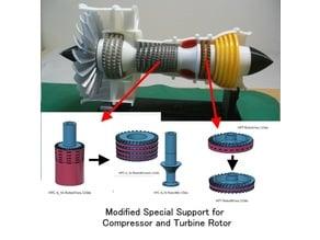 Jet Engine; 2-Spool, Modified Parts