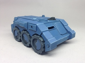 Wheeled APC for Sci-fi Wargames