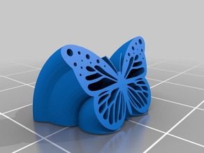 Curved Rubber Butterfly
