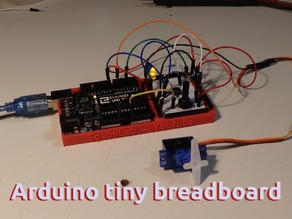 Arduino Uno tiny practical breadboard