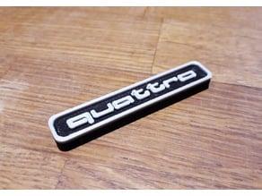 Audi quattro key tag