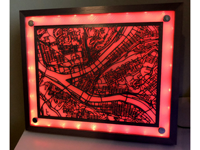 Downtown Pittsburgh Streets - LED Shadowbox
