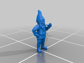 Garden Gnome with Pipe by Autodesk