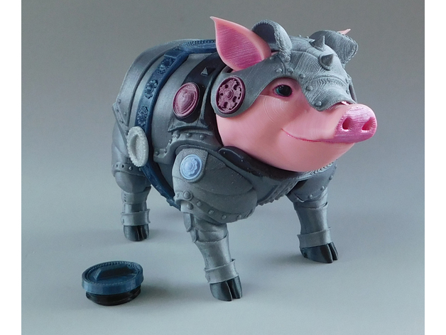 sir pigglesby a most noble piggy bank by loubie thingiverse