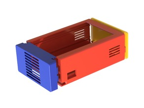 """Raspberry Pi 3 - Case for 3.5"""" Touchscreen (XPT2046) - Optional Fan"""