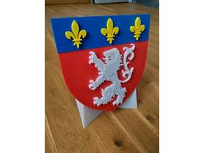 Blason de la ville de Lyon avec support (Lyon city coat of arms with stand)