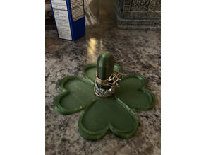 Clover Shaped Ring Holder (Single and Dual Extrusion Versions)