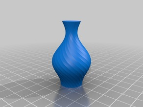 Simple vase with spun facets