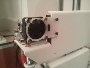 Extended Printrbot Simple Metal extruder fan mount with switch