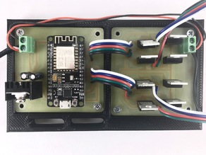 Custom WiFi LED light controller electronics case