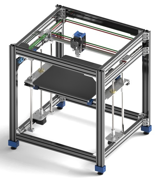 AVZ CoreXY 3D Printer (MGN Linear Rails & Laser Cut Pieces) by AVZ
