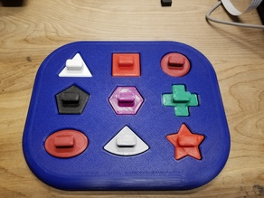 Baby Shape Tray Toy